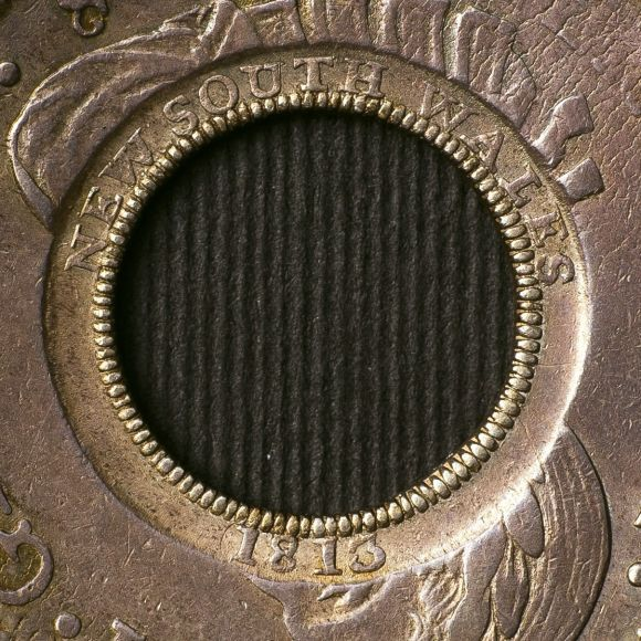 1808 Holey Dollar Counter Stamps