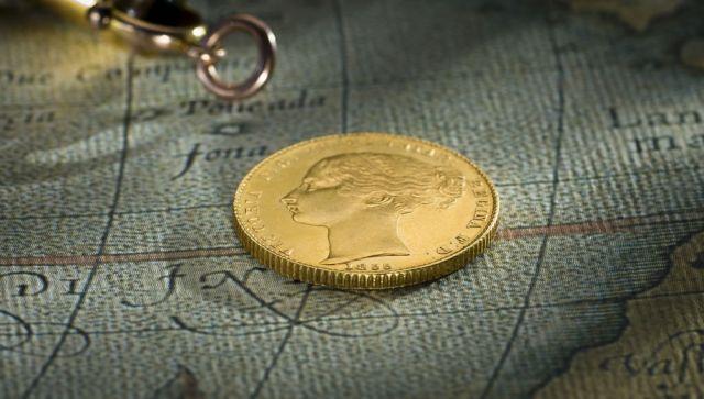 1855 Sydney Mint Sovereign head