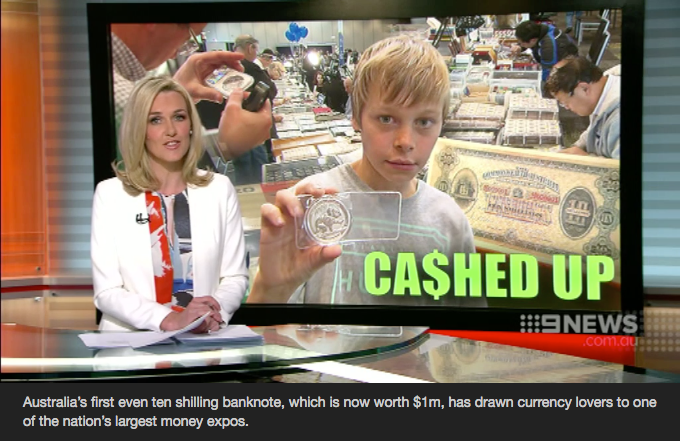 The nation's very first Ten Shillings lures currency lovers to Australia's largest Money Expo.