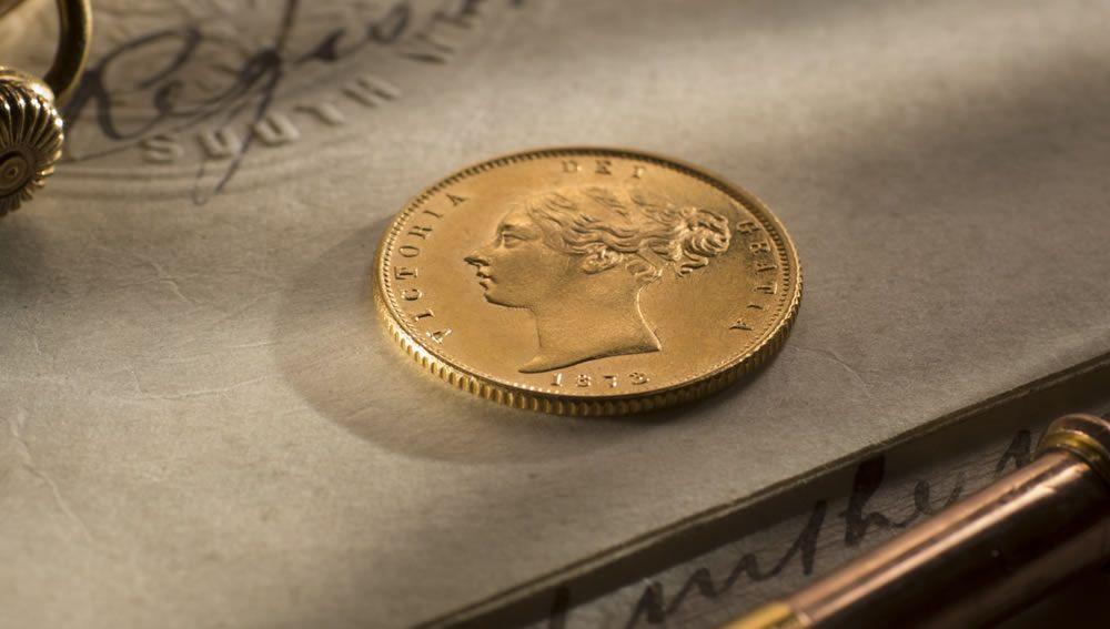 1873 Half Sov Melb Mint