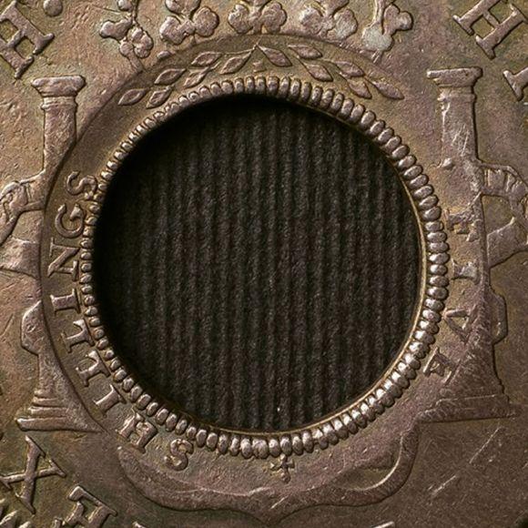 1813 Holey Dollar close up2