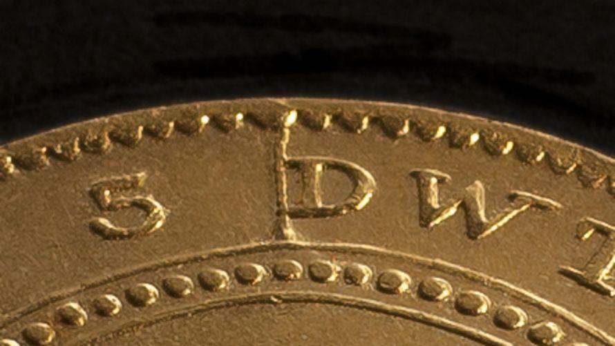 1852 Adelaide Pound Cracked Die