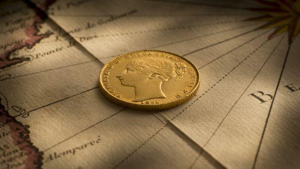1855 Sovereign Unc Obv