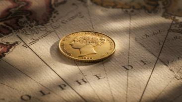 1855 Sydney Mint Half Sovereign Obv