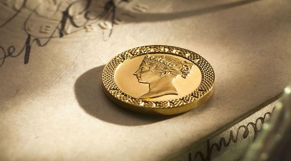 Circa 1860 Gold Taylor Pattern Sixpence