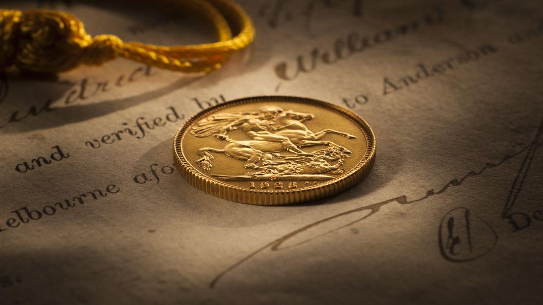 1926 Sydney Mint Sovereign FDC rev