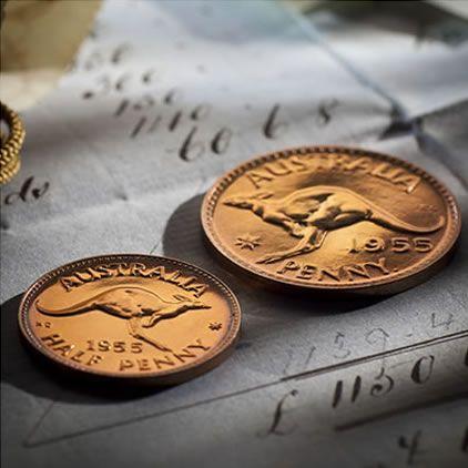 1955 Penny & Half Penny