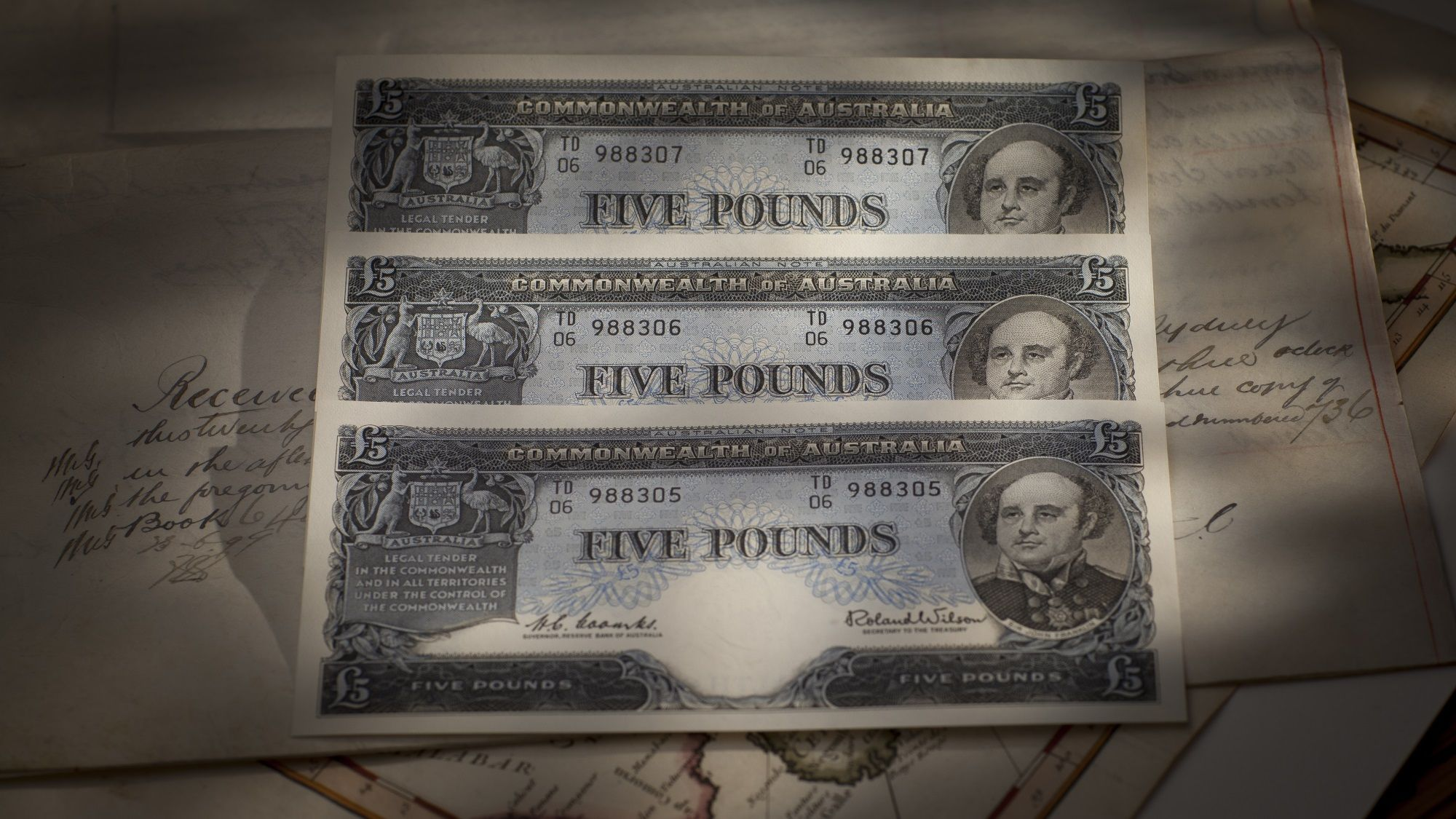 Five pound trio