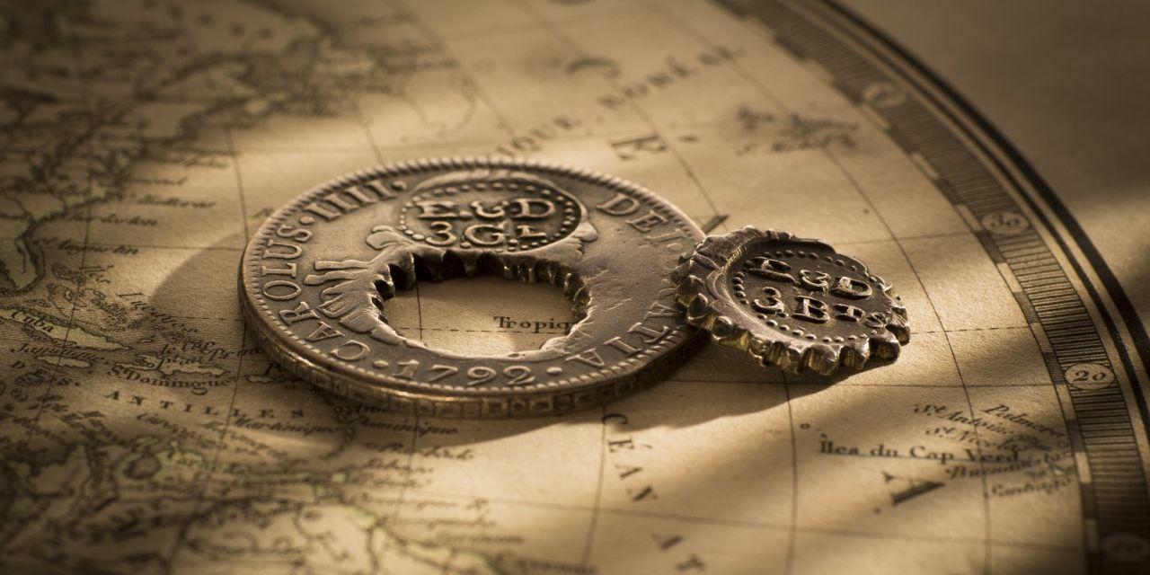 British Guiana 2 Holey Dollar and Dump Rev