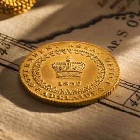 Australia's first gold coin, the 1852 Adelaide Pound