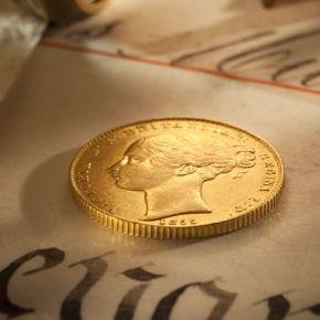 Australia's first gold sovereign - 1855