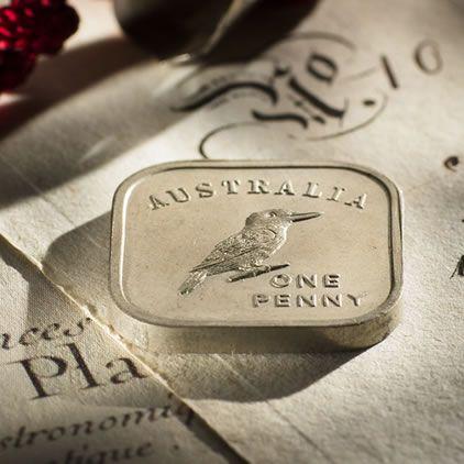 Square Kookaburra Pattern coinage 1919 - 1921