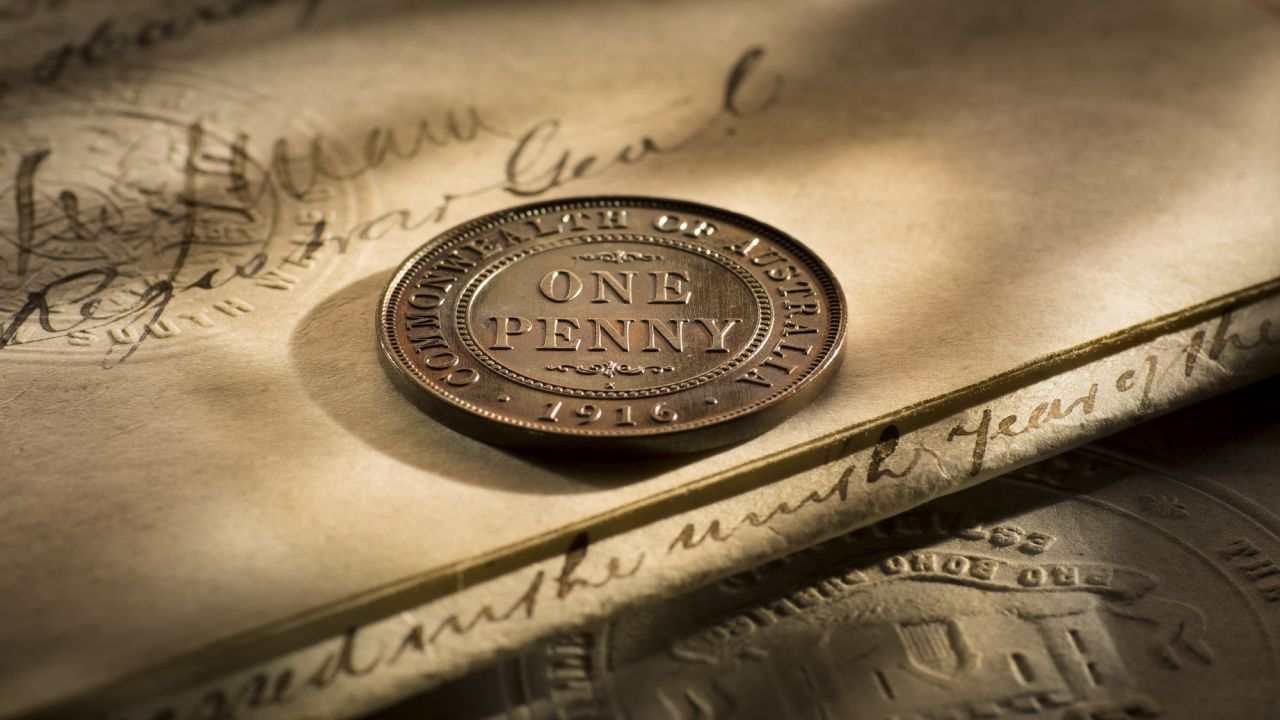 1916 Specimen Penny rev horizontal b&b August 2017
