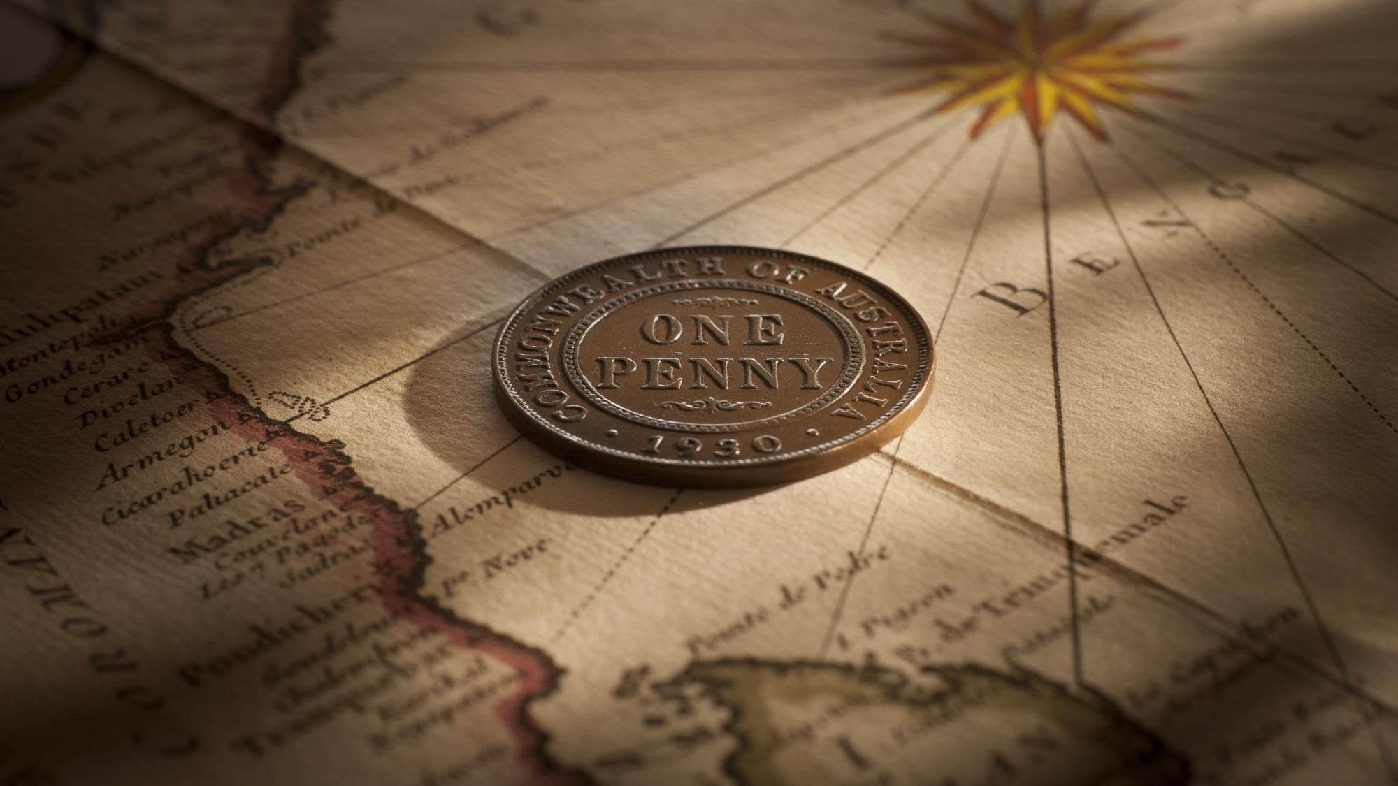1930 Penny Nearly Very Fine rev September 2017