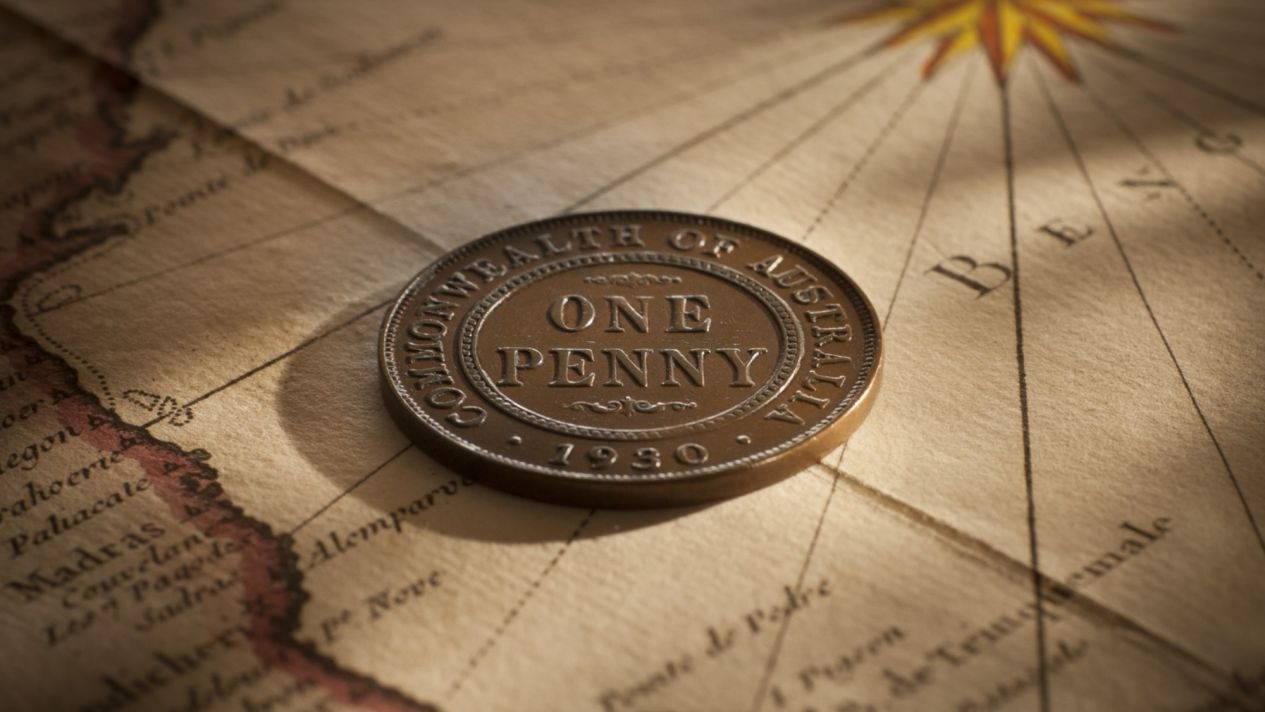 1930 Penny Nearly Very Fine rev Invest