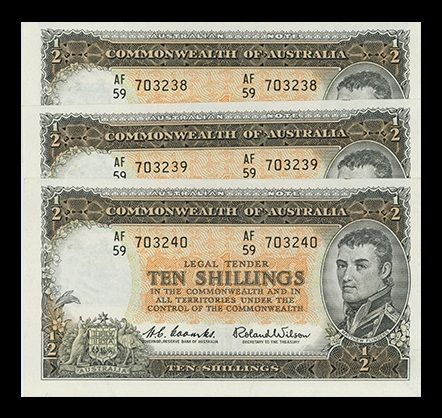 ten shilling trio