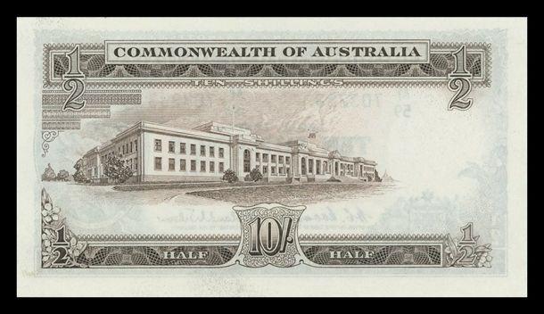 scan 7 1961 QEII Ten Shillings Run of 8 Obv 1