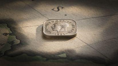 1921 Square Halfpenny Type 2 Obv B&B February 2018