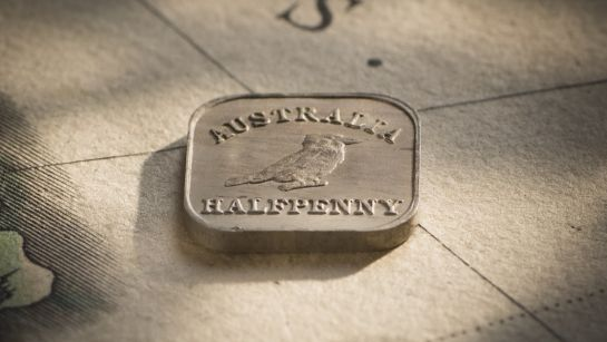 1921 Square Halfpenny Type 2 Rev Slideshow February 2018