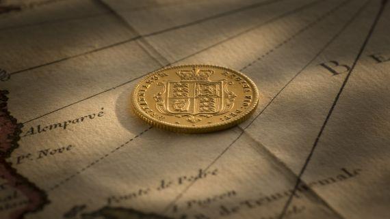 1883S YH Sheild Proof Half Sovereign reverse April 2018