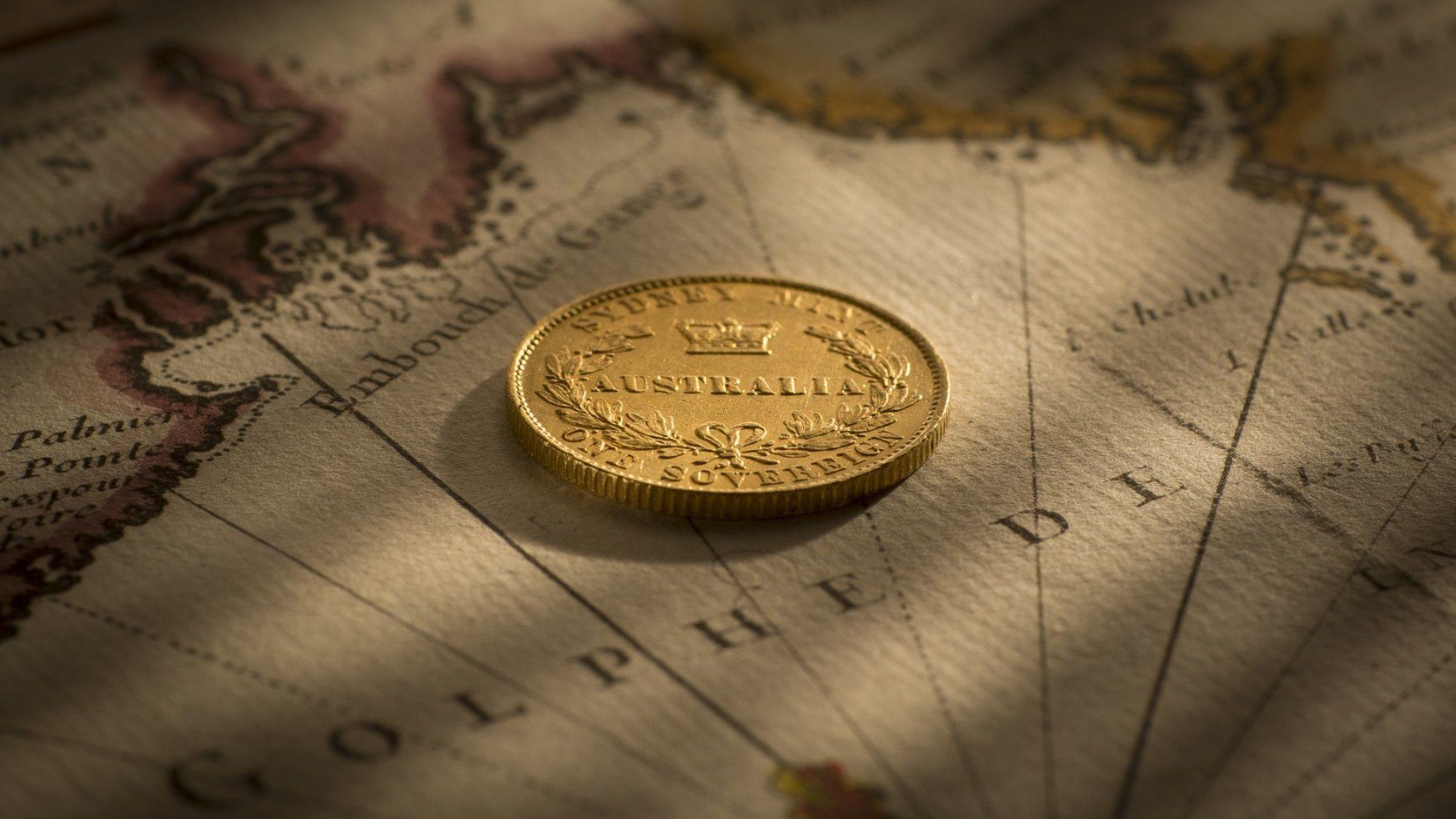 1855 Sydney Mint Sovereign EF rev B&B May 2018