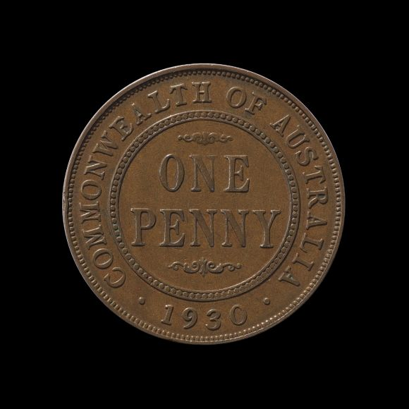 1930 Penny About Very Fine rev May 2018