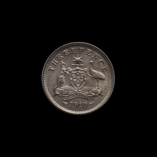 1910 Specimen Threepence rev June 2018