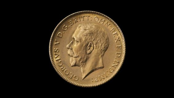 1918 Perth Mint Half Sovereign non date side July 2018