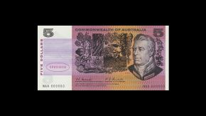 1967 $5 Type 1 Coombs Randall Specimen Note back July 2018