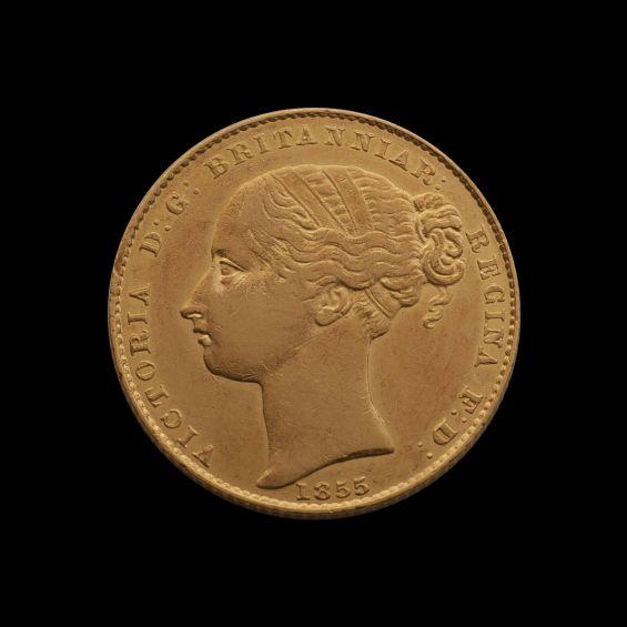 1855 Sydney Mint Sov date side July 2018