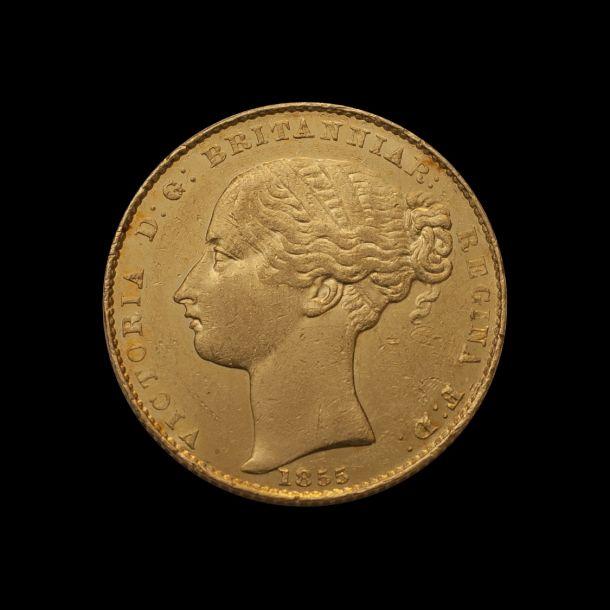 1855 Sydney Mint Sov good EF TECH date side July 2018