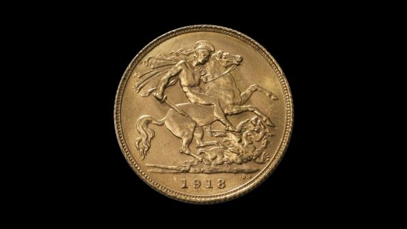 1918 Perth Mint Half Sovereign date side July 2018
