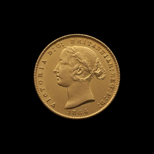 1864 Sydney Mint Half Sovereign Unc obv with Arabic 1 October 2018