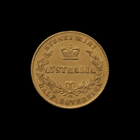 1864 Sydney Mint Half Sovereign Unc rev with Arabic 1 October 2018