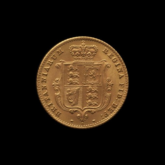 1871 Sydney Mint Half Sovereign YH Shield Brilliant Unc rev