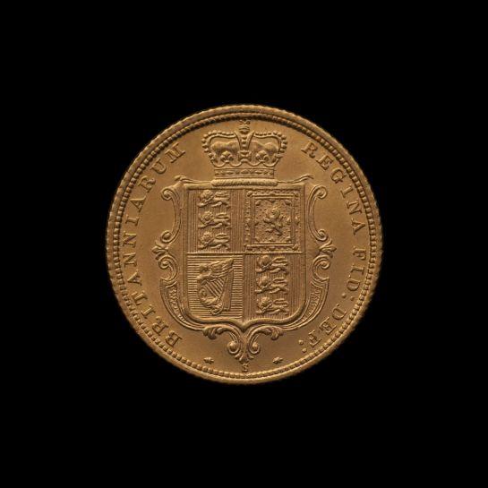 1882 Sydney Mint Half Sovereign YH Shield Brilliant Unc rev
