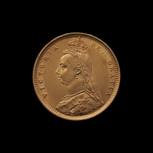 1887 Sydney Mint Half Sovereign Jubilee Head Choice Unc obv