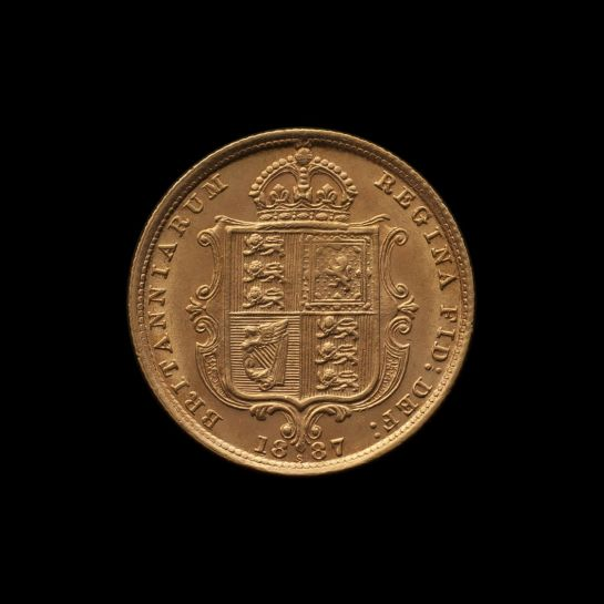 1887 Sydney Mint Half Sovereign Jubilee Head Choice Unc rev