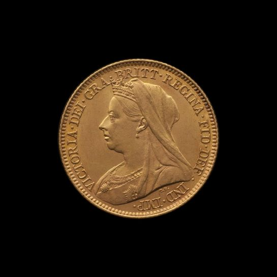1900 Melbourne Mint Half Sovereign Veilded Head Choice Unc obv