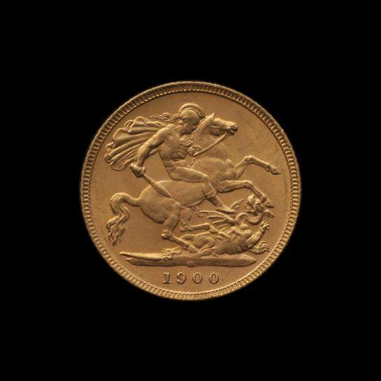 1900 Melbourne Mint Half Sovereign Veilded Head Choice Unc rev