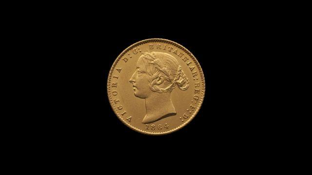 1864 Sydney Mint Half Sovereign Unc obv B & B October 2018