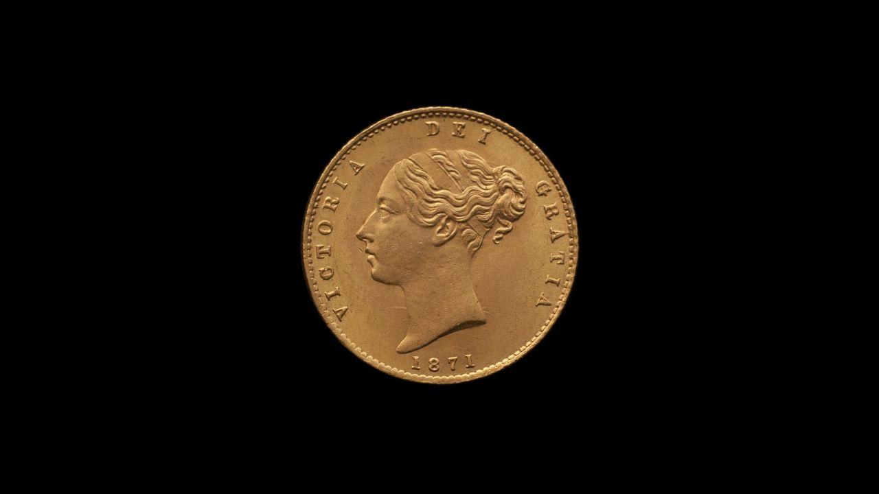 1871 Sydney Mint Half Sovereign YH Shield Brilliant Unc obv B & B October 2018