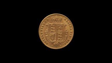 1871 Sydney Mint Half Sovereign YH Shield Brilliant Unc rev B & B October 2018