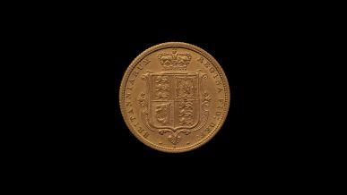 1880 Sydney Mint Half Sovereign YH Shield Choice Unc rev B & B October 2018