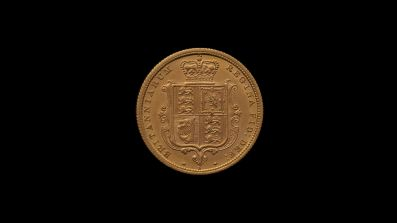 1880 Sydney Mint Half Sovereign YH Shield Choice Unc rev B & B October 2018
