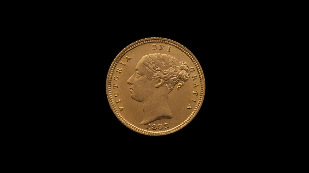 1882 Sydney Mint Half Sovereign YH Shield Brilliant Unc obv B & B October 2018