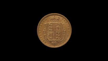 1882 Sydney Mint Half Sovereign YH Shield Brilliant Unc rev B & B October 2018