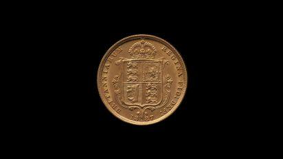 1887 Sydney Mint Half Sovereign Jubilee Head Choice Unc rev B & B October 2018