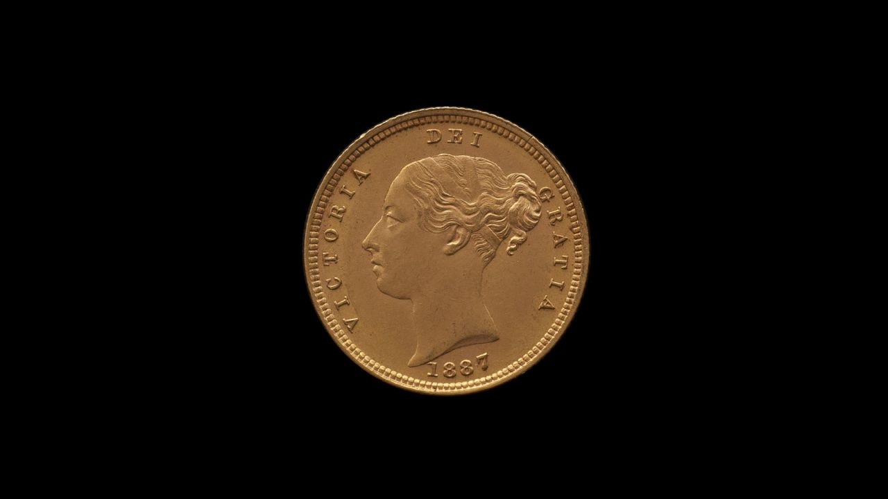 1887 Melbourne Mint Half Sovereign YH Shield Choice Unc obv B & B October 2018