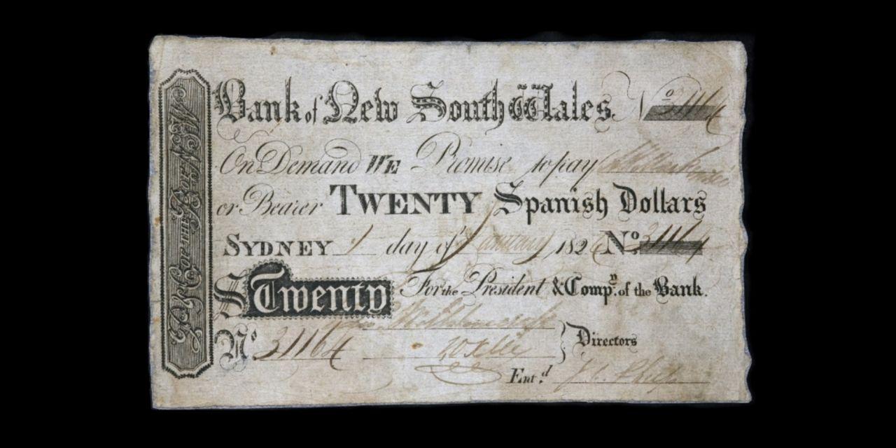 1824 $20 Spanish dollars banner November 2018